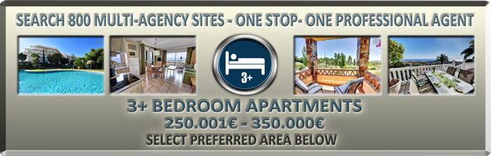 browse majority 3 bedroom apartments for sale in Benalmadena 250000€ to 350000€