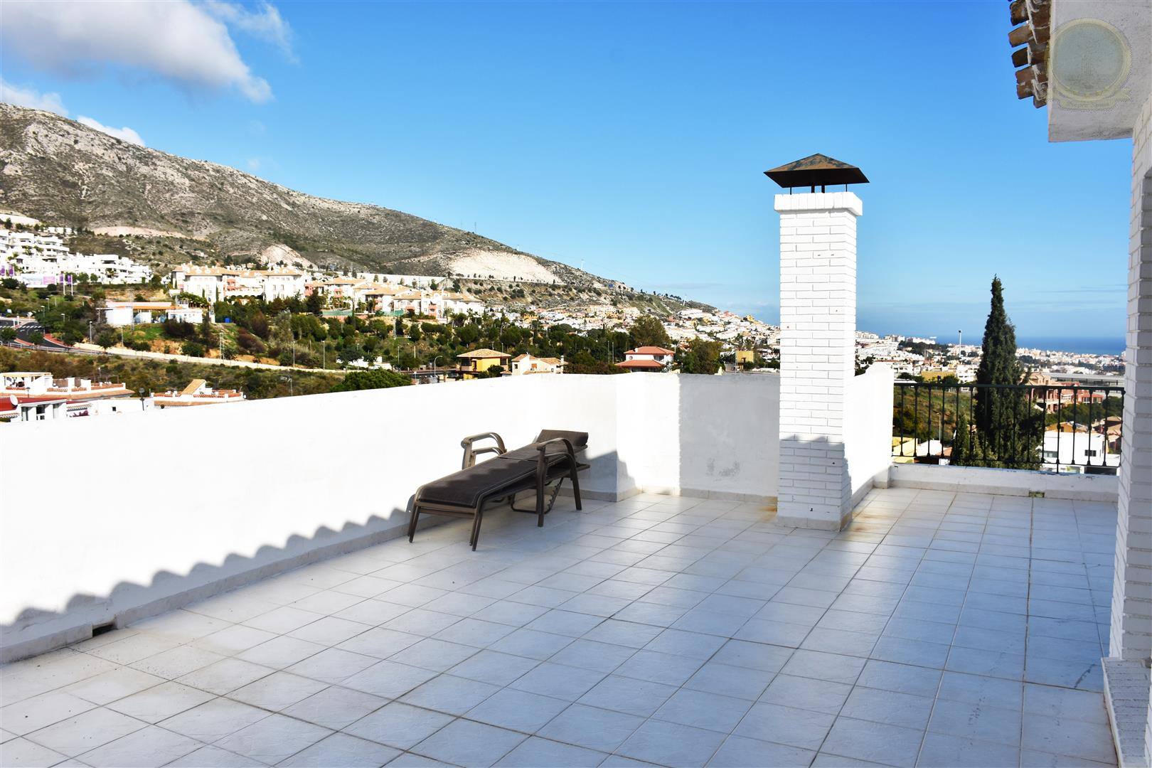 terrace of townhouse for sale in Benalmadena Pueblo